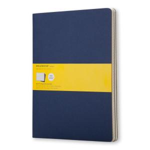 Zestaw 3 notatników Moleskine - Squared Indigo Blue XL