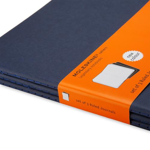 Zestaw 3 notatników Moleskine - Ruled Indigo Blue XL