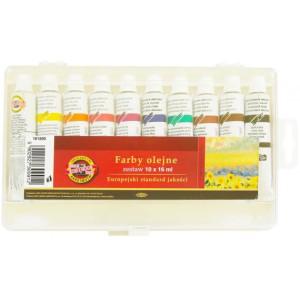 Farby olejne 10 kol. x 16 ml KOH-I-NOOR