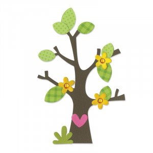 WYKROJNIK - BIGZ - TREE W/FLOWER, HEART & LEAVES