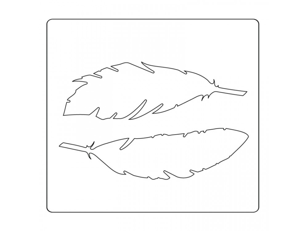 Wykrojnik i folder do embossingu Bigz - Sizzix - Feather Duo