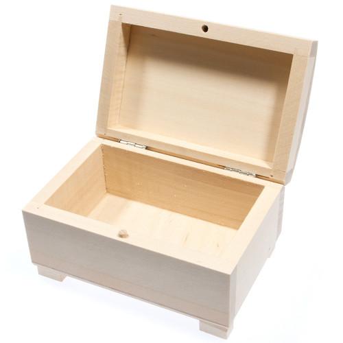 Kuferek drewniany biżuterię
