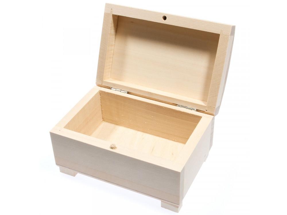 Kuferek drewniany na biżuterię - 12 x 8 x 7 cm