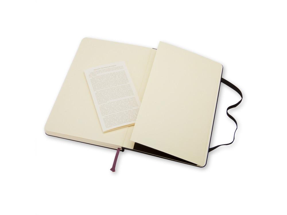 Notatnik gładki A6 - Moleskine - czarny, twarda okładka