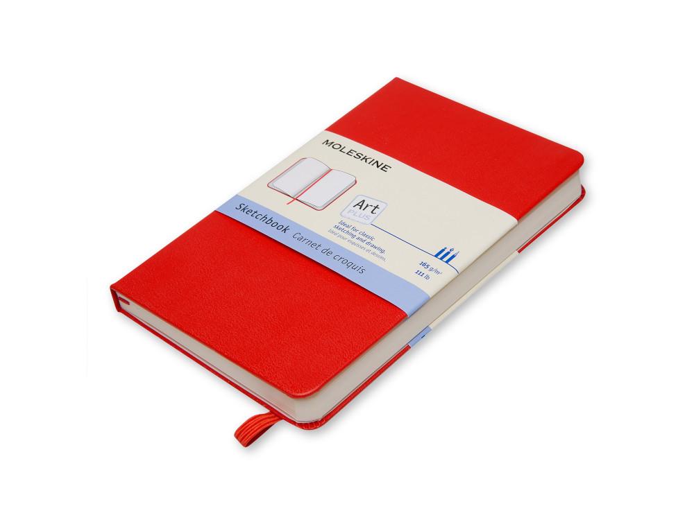 Szkicownik A6 - Moleskine - czerwony, twarda okładka