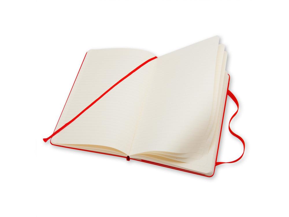 Notatnik w linie A5 - Moleskine - czerwony, twarda okładka