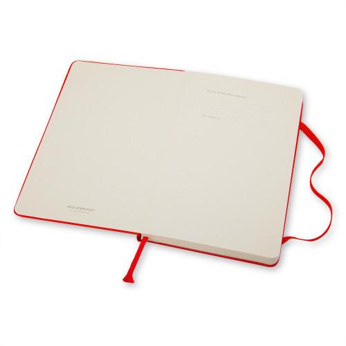 Notatnik Moleskine - Ruled Red Hard Large