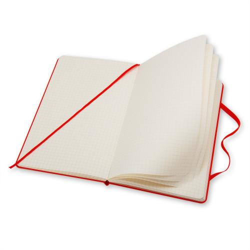 Notatnik Moleskine - Squared Red Hard Large