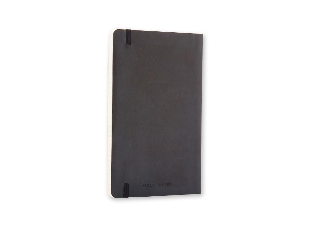 Notatnik gładki A5 - Moleskine - czarny, miękka okładka