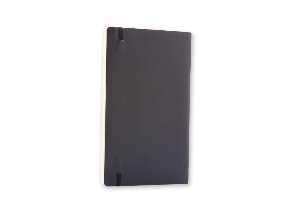 Notatnik w kratkę A5 - Moleskine - czarny, miękka okładka