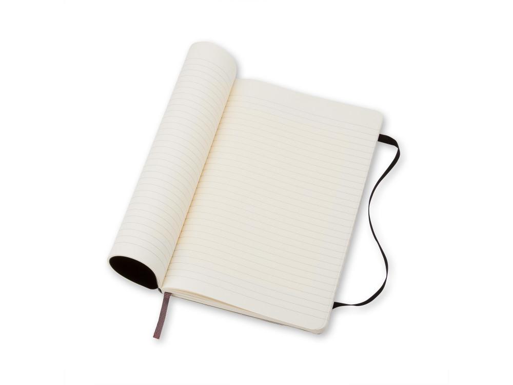 Notatnik w linie A5 - Moleskine - czarny, miękka okładka