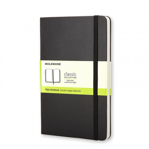 Notatnik Moleskine - Plain Black Hard Large