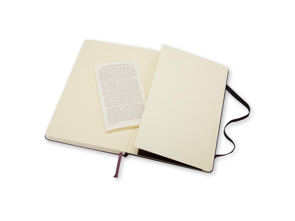 Notatnik w kratkę A5 - Moleskine - czarny, twarda okładka
