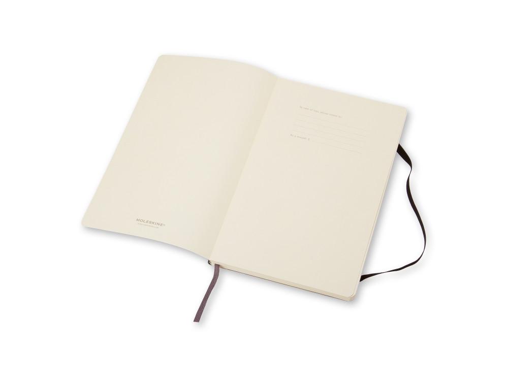 Notatnik gładki A6 - Moleskine - czarny, miękka okładka
