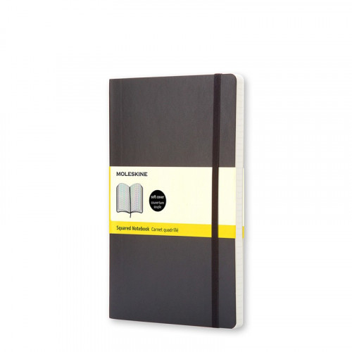 Notatnik Moleskine - Squared Black Soft Pocket