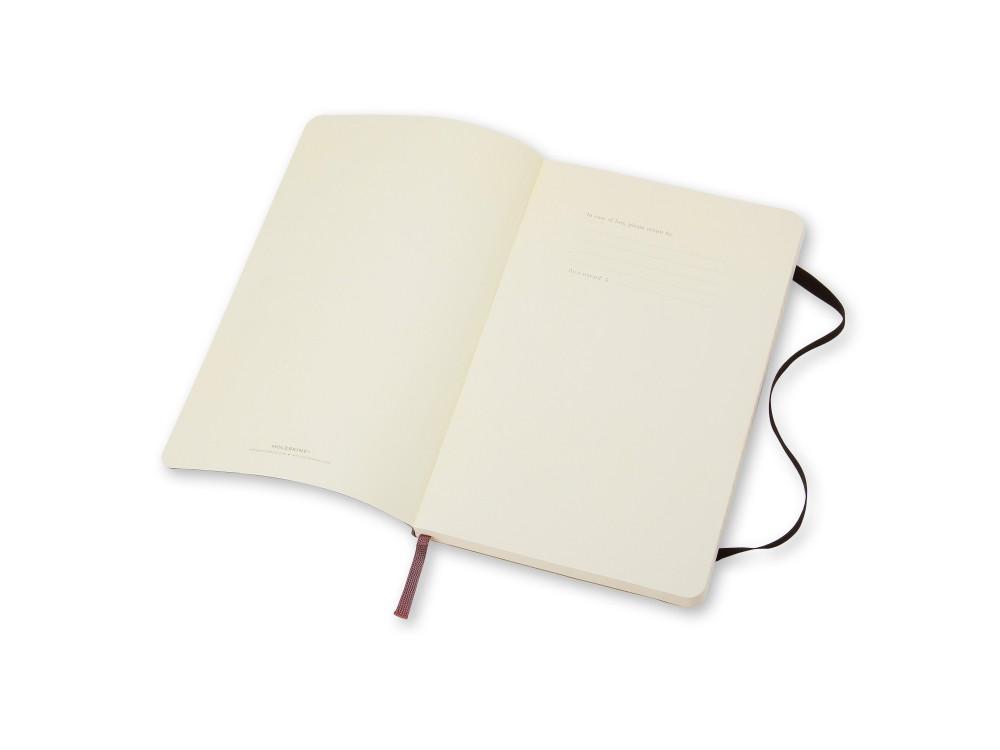 Notatnik w linie A6 - Moleskine - czarny, miękka okładka
