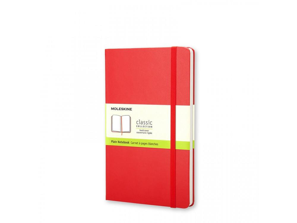 Notatnik gładki A6 - Moleskine - czerwony, twarda okładka