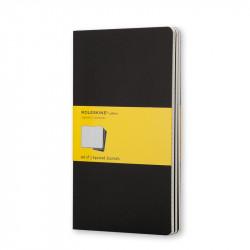 Zestaw notatników w kratkę A5 - Moleskine - czarne, 3 szt.