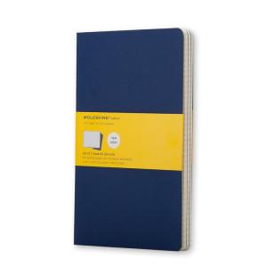 Zestaw 3 Notatników Moleskine - Squared Indigo Blue L