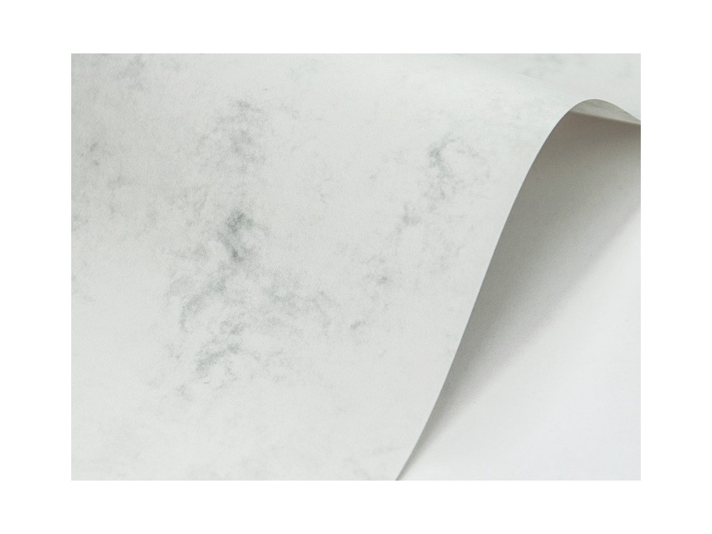 Papier Marble Cover 200g - White, biały, A4, 20 ark.