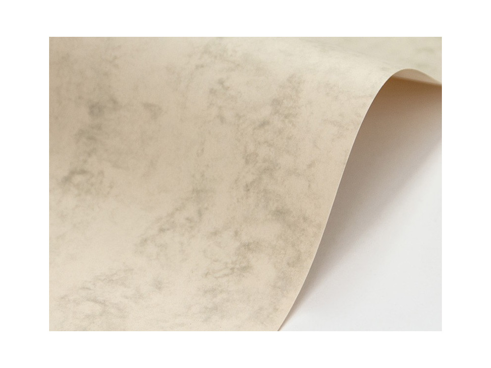 Papier Marble Cover 200g - Olympic Ivory, kremowy, A4, 20 ark.