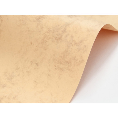 Marble Cover Paper 200g - Grecian Tan, cream, A4, 20 sheets