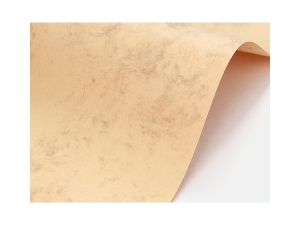 Papier Marble Cover 200g - Grecian Tan, kremowy, A4, 20 ark.