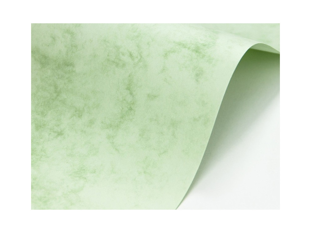 Marble Cover Paper 200g - Delphic Green, A4, 20 sheets