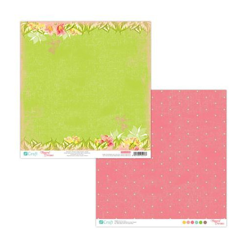 30x30 cm Double sided paper - Tropical dreams 06