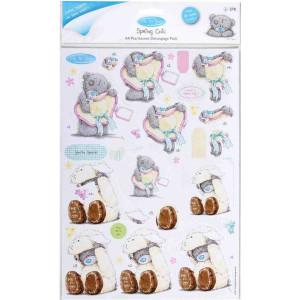 Perłowe elementy do Decoupage A4 - Spring Chic - Kurczaczek Wielkanocny