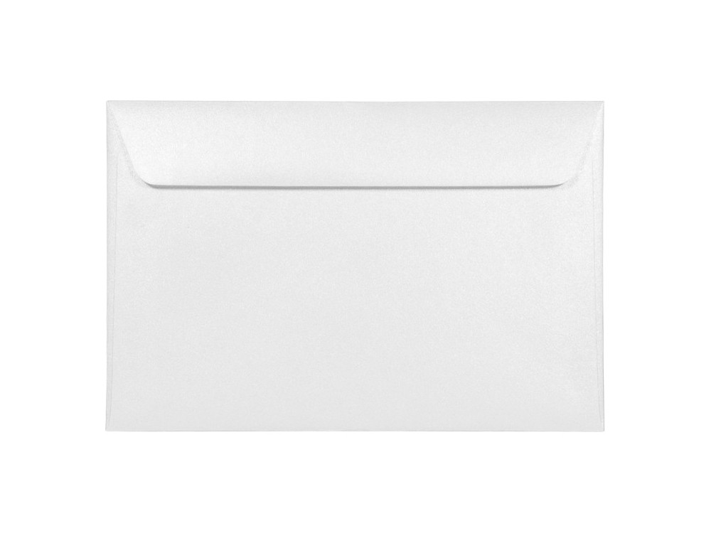 Koperta perłowa Majestic 120g - C6, Marble White, biała