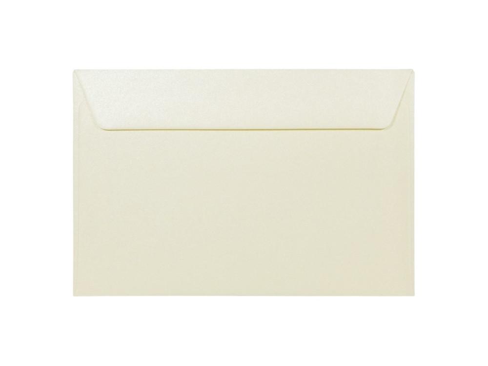 Koperta perłowa Majestic 120g - C6, Candlelight Cream, kremowa