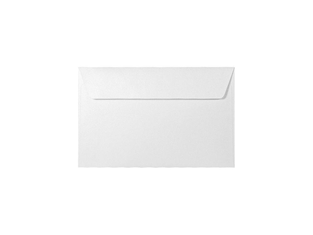 Koperta perłowa Majestic 120g - PA2, Marble White, biała