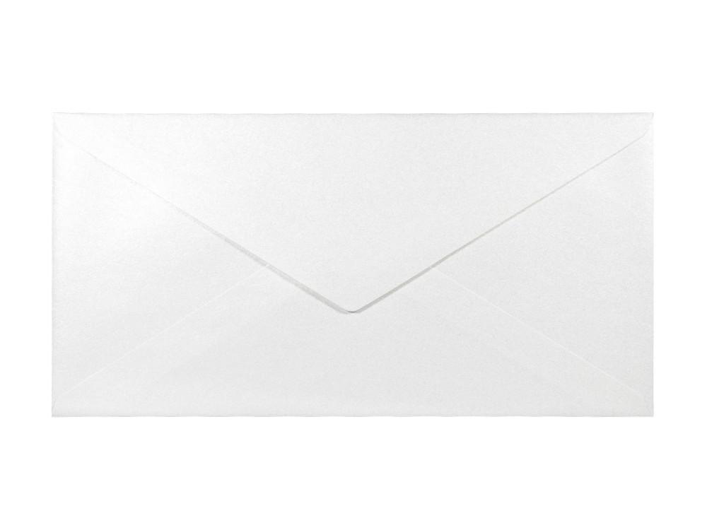 Koperta perłowa Sirio Pearl 110g - DL, Ice White, śnieżnobiała