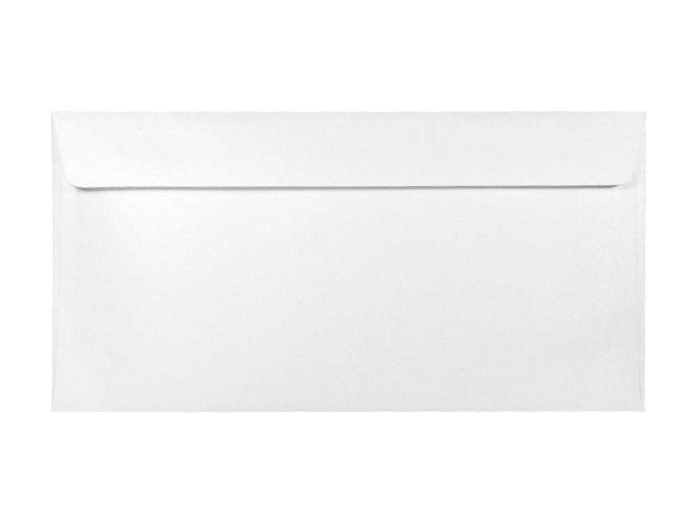 Koperta perłowa Majestic 120g - DL, Marble White, biała