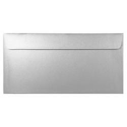 Koperta perłowa Majestic 120g - DL, Moonlight Silver, srebrna