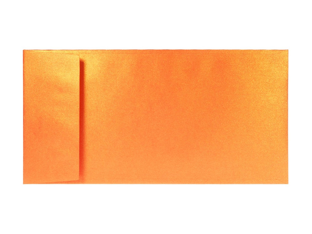 Koperta perłowa Sirio Pearl 125g - DL, Orange Glow, pomarańczowa