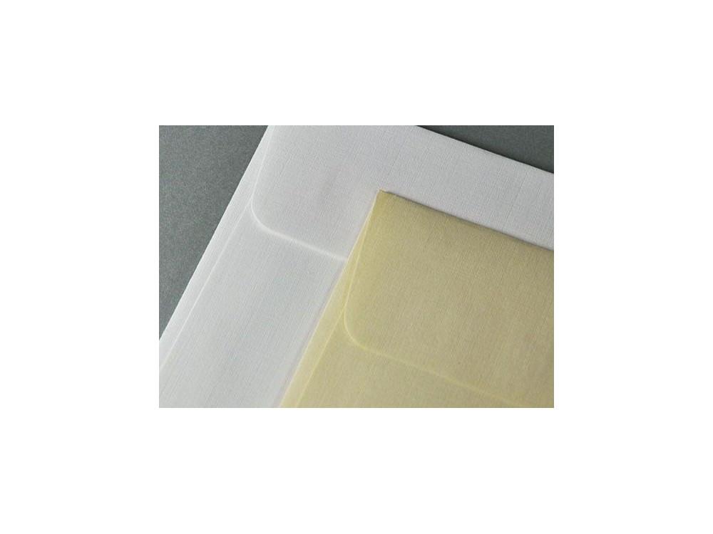 Via Linen textured envelope 120g - DL, white