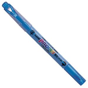 Zakreślacz UNI PUS-102T 2 końcówki, niebieski