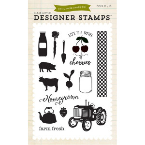 Stemple Echo Park - Farm Fresh 4x6 Stamp