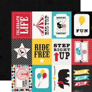 Papier Echo Park - Circus Party - 3x4 Journaling Cards