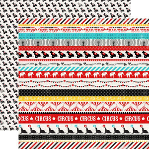 Papier Echo Park - Circus Party - Circus Borders