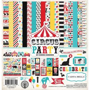 Zestaw papierów Echo Park - Circus Party + naklejki