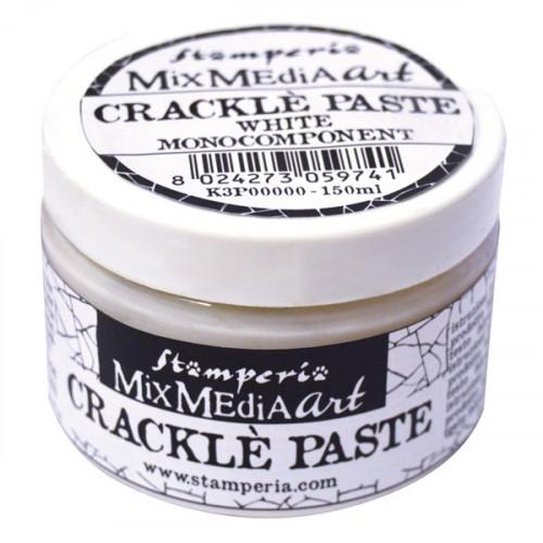 Pasta Crackle Mixmedia Stamperia 150 ml biała