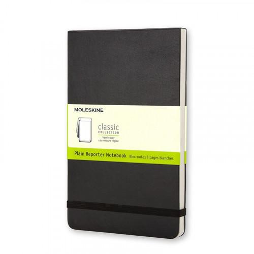 Notatnik Moleskine Reporter - Plain Black Hard Large