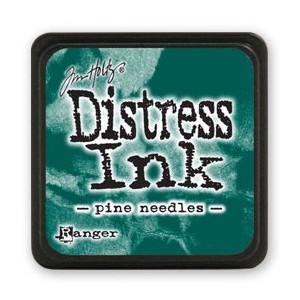 Mini Distress Ink - Poduszka z tuszem - Ranger - Pine Needles