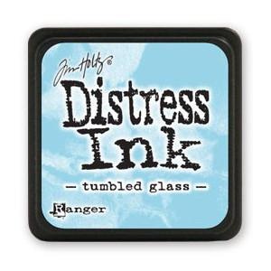 Mini Distress Ink - Poduszka z tuszem - Ranger - Tumbled Glass