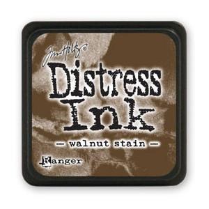 Mini Distress Ink - Poduszka z tuszem - Ranger - Walnut Stain