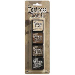 Mini Distress Ink Pad Kit 3 - Zestaw poduszek z tuszem