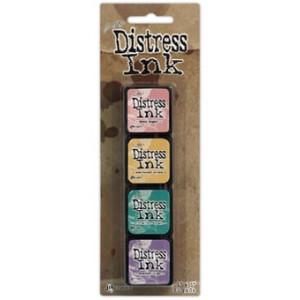 Mini Distress Ink Pad Kit 4 - Zestaw poduszek z tuszem